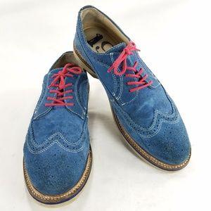 1901 Mens Suede Leather Derby Shoes Sz 10 M